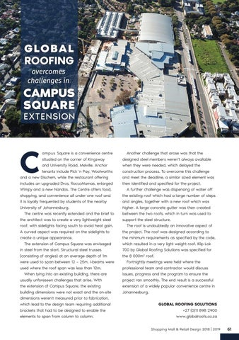 Page 61 of Global Roofing Solutions Overcomes Challenges in Campus Square Extension
