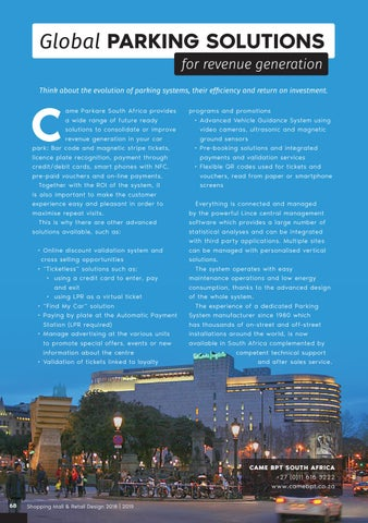 Page 68 of Global Parking Solutions for Revenue Generation