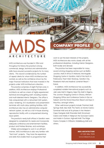 Page 9 of MDS Architecture Company Profile
