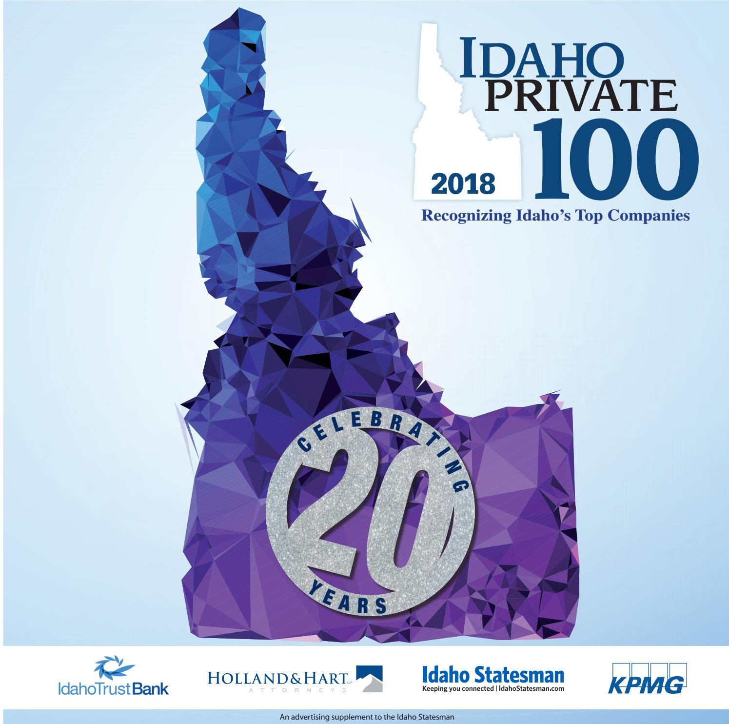 Idaho Private 100 2018 by Idaho Statesman - issuu