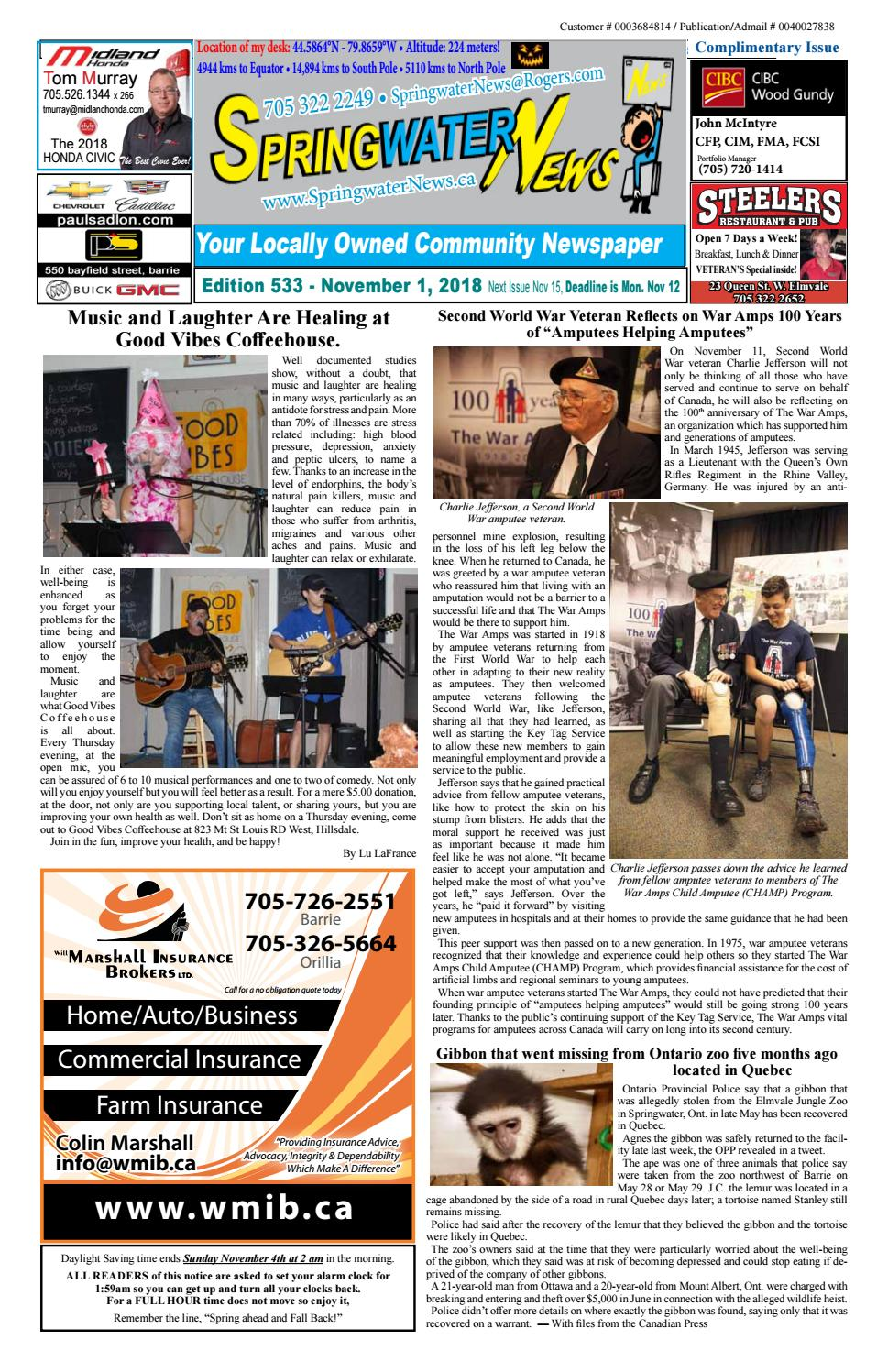 6f060c0e4 November1 Sringwater News 2018 Edition 533 by Springwater News - issuu