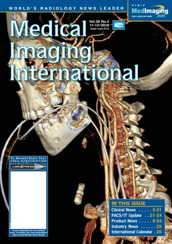 Medical Imaging International December 2018 by Globetech - issuu