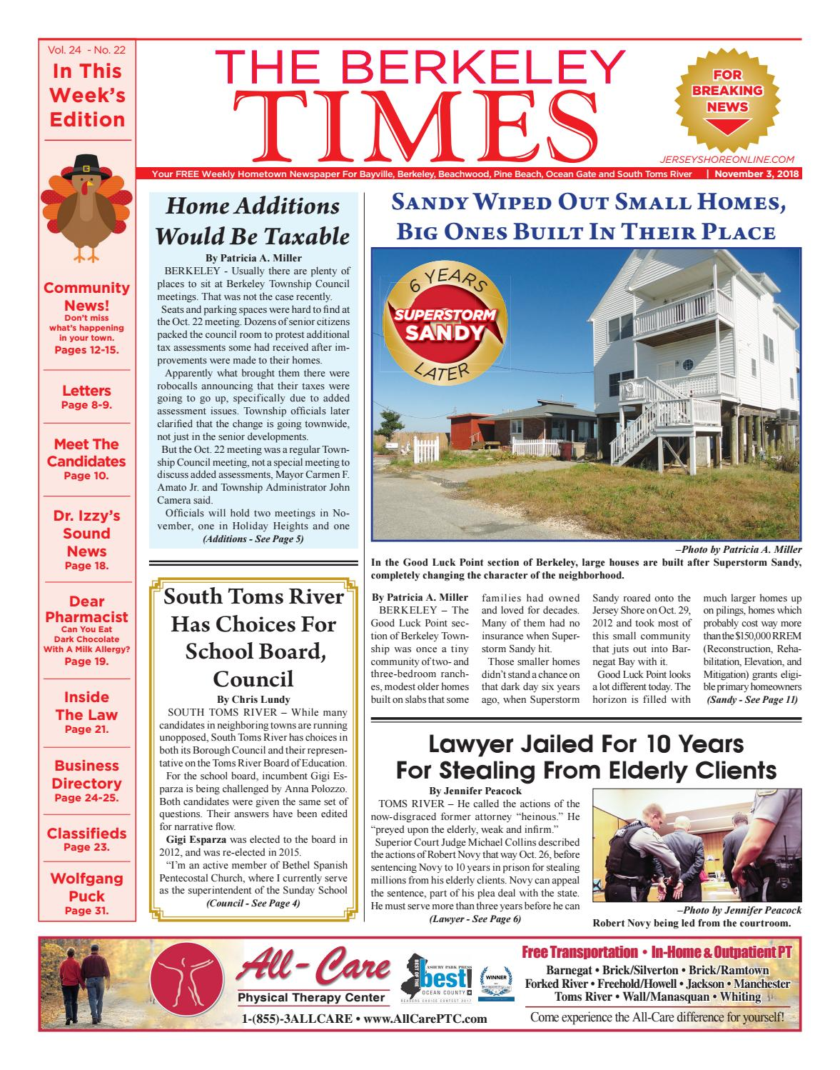 2018-11-03 - The Berkeley Times by Micromedia Publications