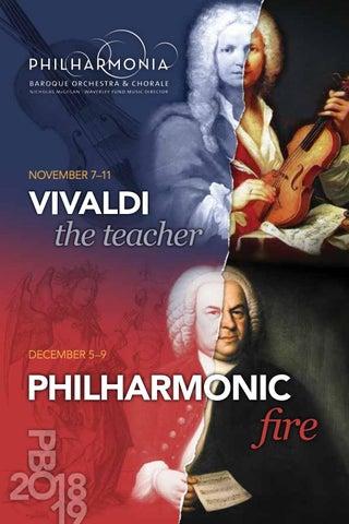 Pbo 2018 19 Program Book Nov Dec By Philharmonia Baroque Orchestra