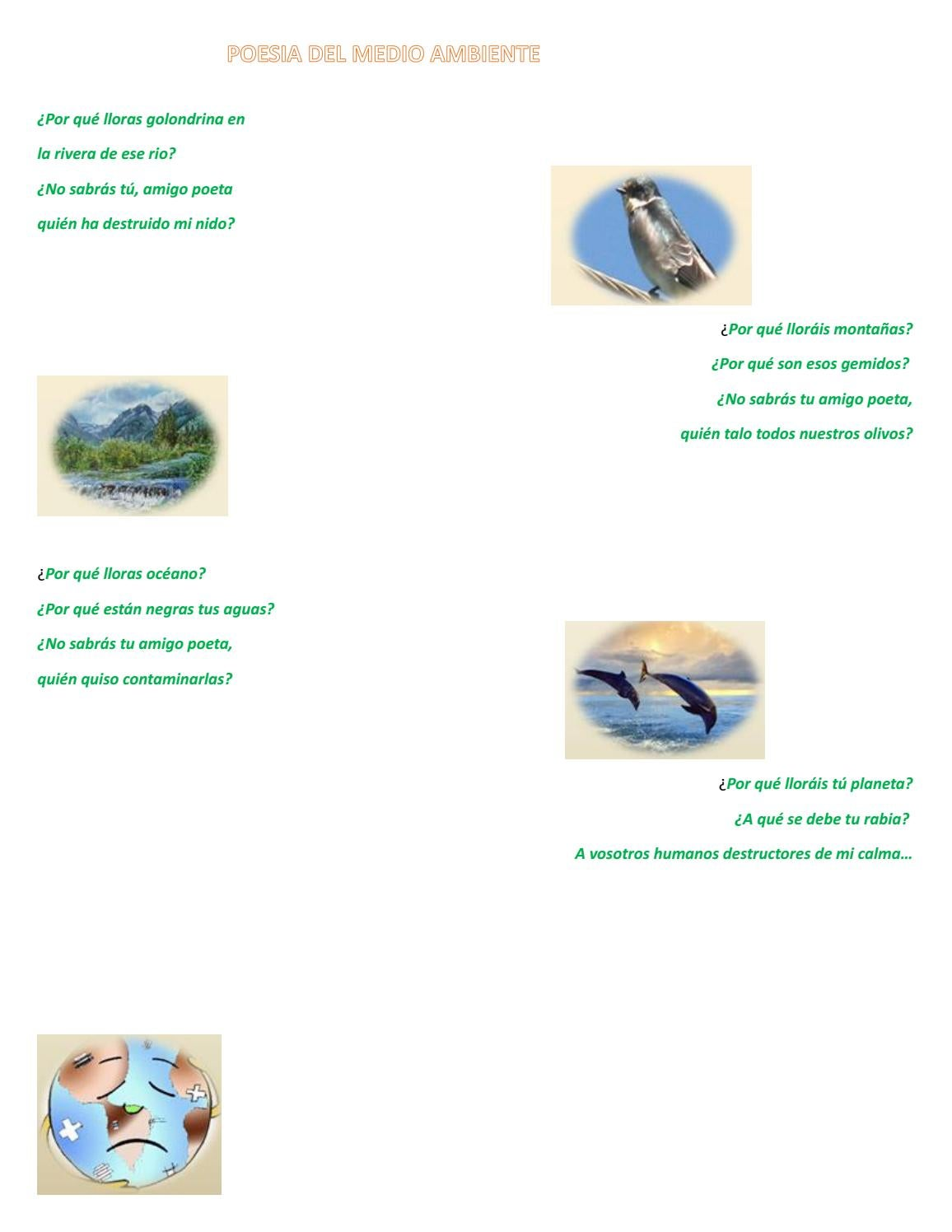 Poema Al Medio Ambiente By Tboxplanet18 Issuu
