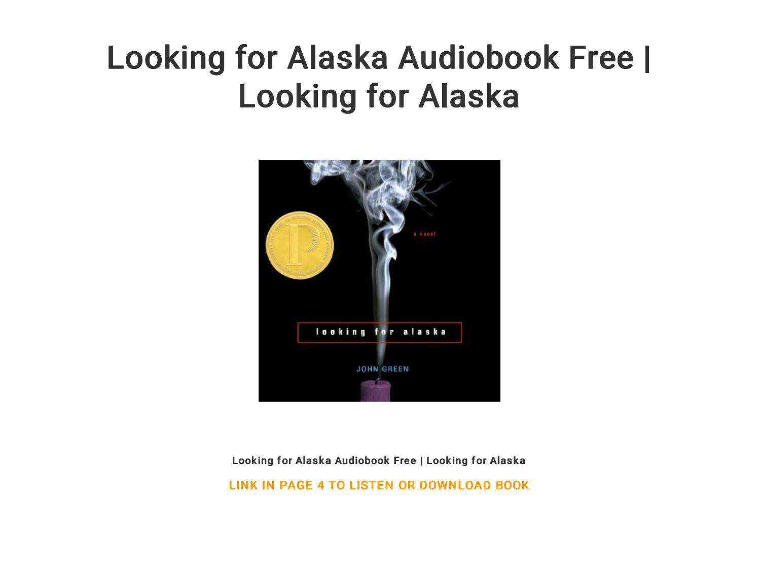 Looking for alaska audiobook download free   looking for alaska.