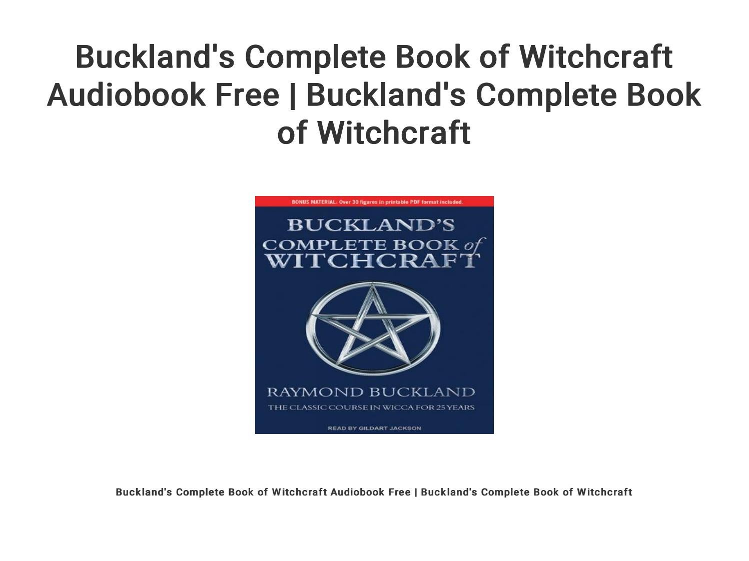 Raymond Buckland Pdf