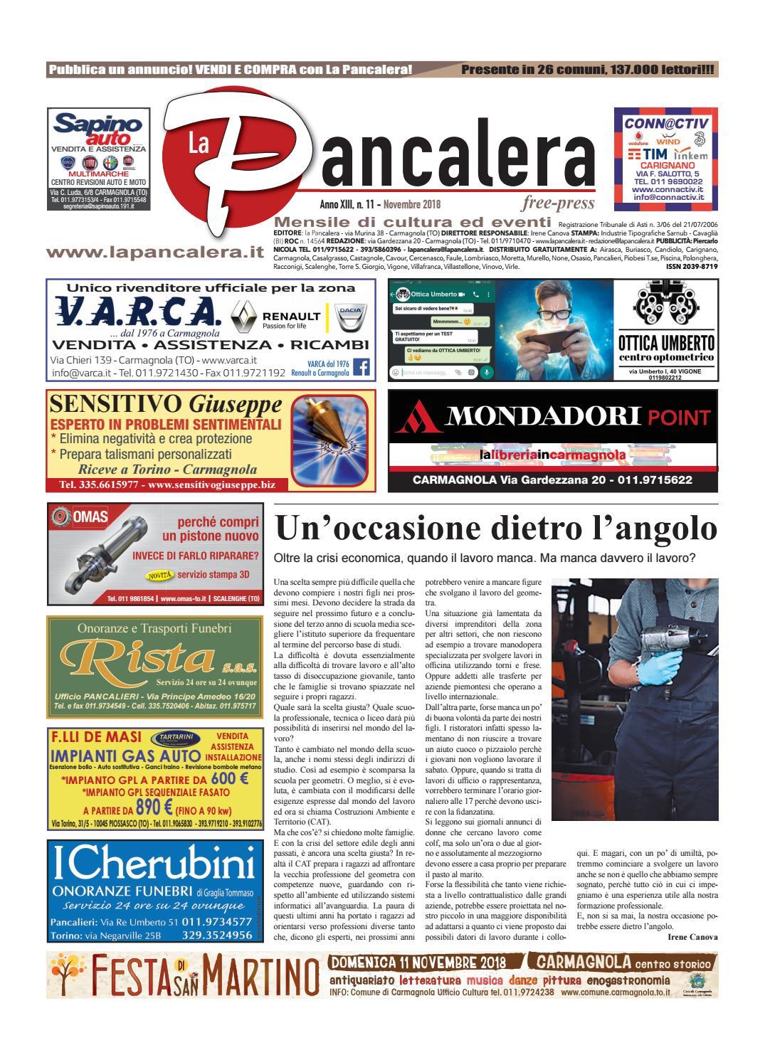 Centro Del Materasso Carmagnola.La Pancalera Novembre 2018 By La Pancalera Issuu