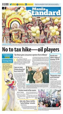 63fc3bfb4 Manila Standard - 2018 November 5 - Monday by Manila Standard - issuu