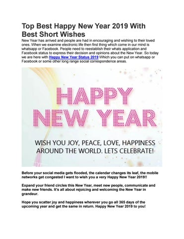 top best happy new year 2019 with best short wishes new year has arrived and people are had in encouraging and wishing to their loved ones when we examine