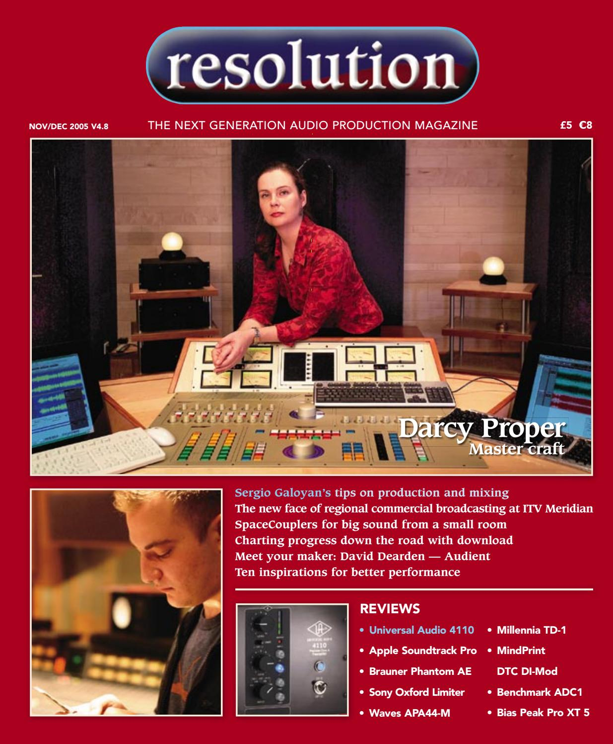 Resolution V4 8 Nov/Dec 2005 by Resolution - issuu