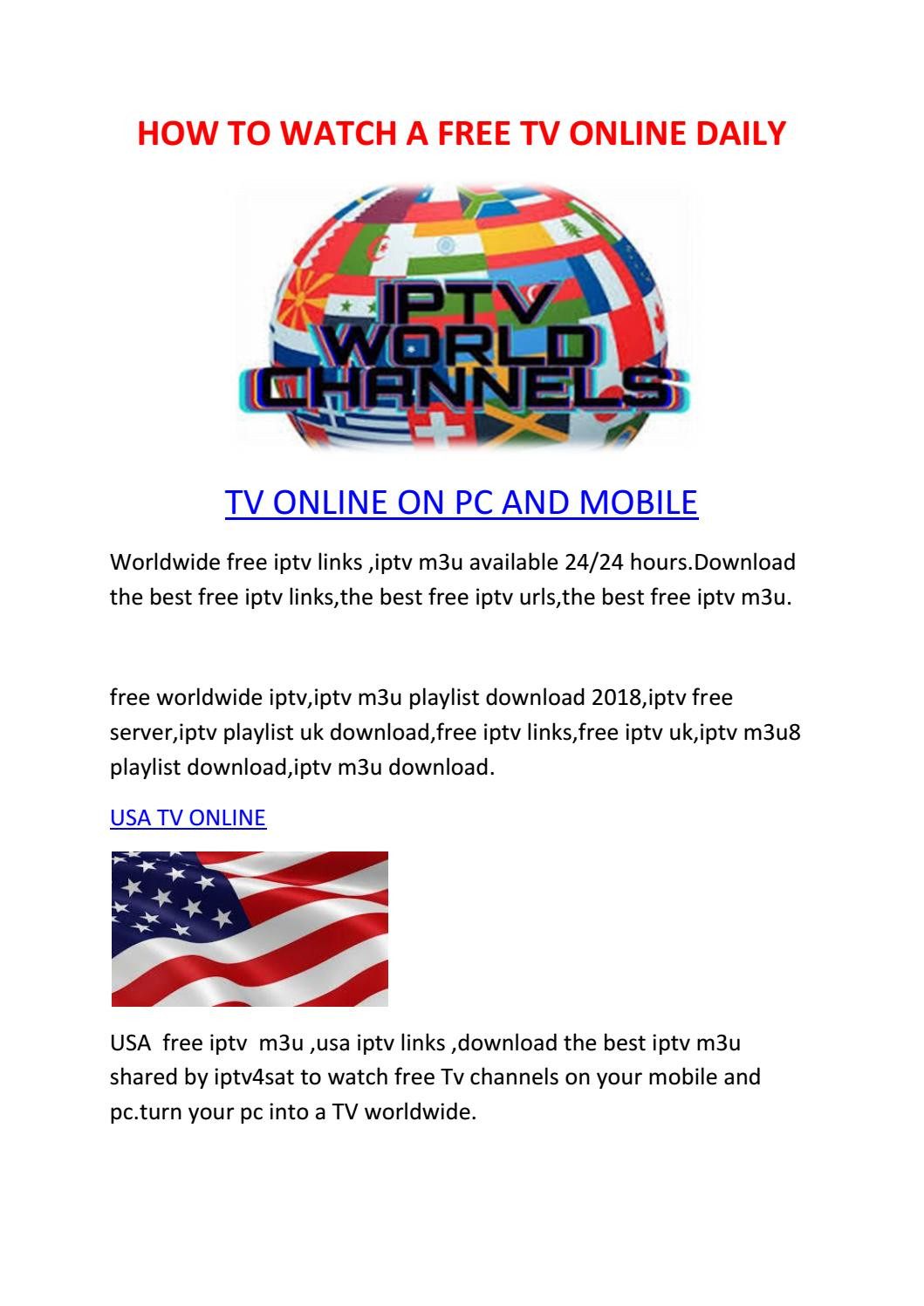 HOW TO WATCH A FREE TV ONLINE DAILY by SMART IPTV - issuu
