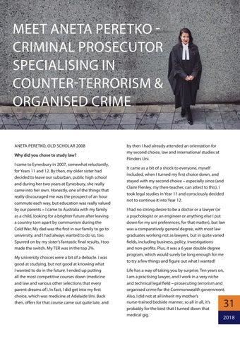 Page 31 of Meet Aneta Peretko - Criminal prosecutor specialising in counter-terrorism & organised crime