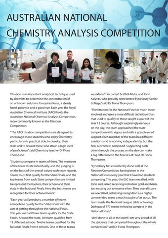 Page 9 of Australian National  Chemistry Analysis Competition