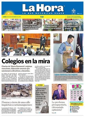 279419cdb54b7 Diario La Hora Loja 05 de Noviembre 2018 by Diario La Hora Ecuador ...