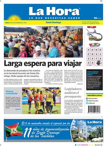 1e34548d4 Santo Domingo 5 de noviembre del 2018 by Diario La Hora Ecuador - issuu