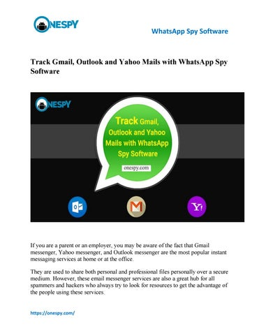Track Gmail, Outlook and Yahoo Mails with WhatsApp Spy