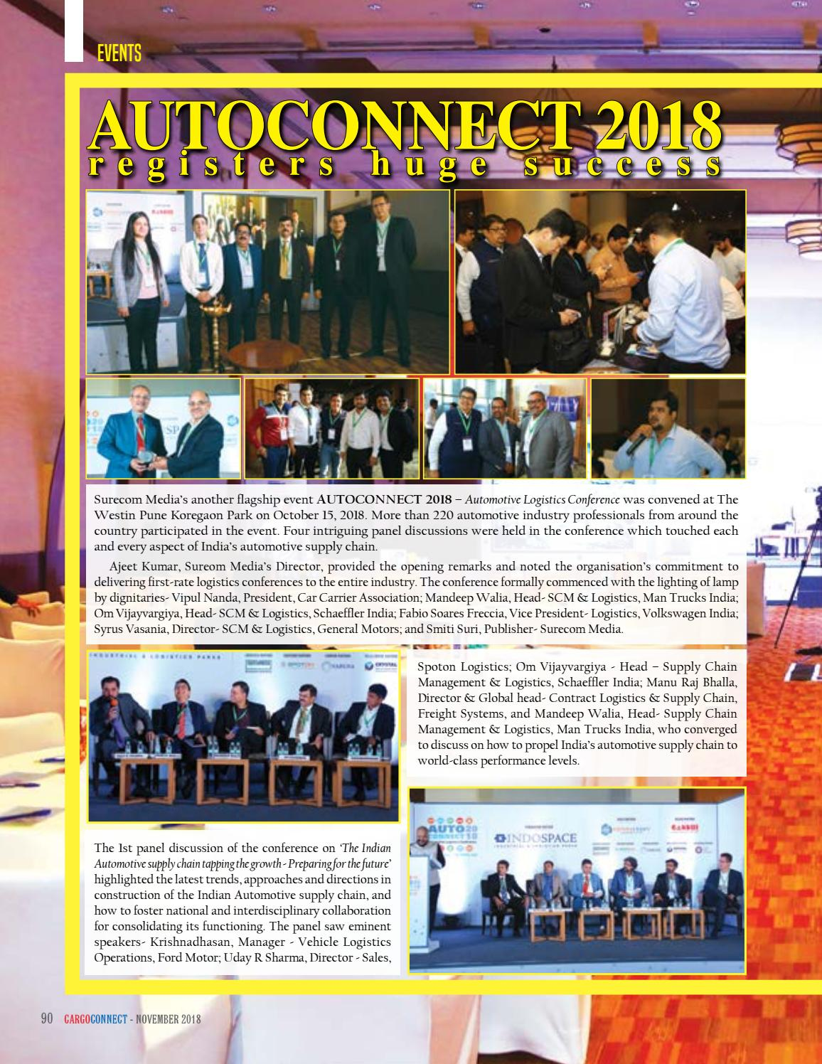CARGOCONNECT November issue 2018 by Surecom Media - issuu