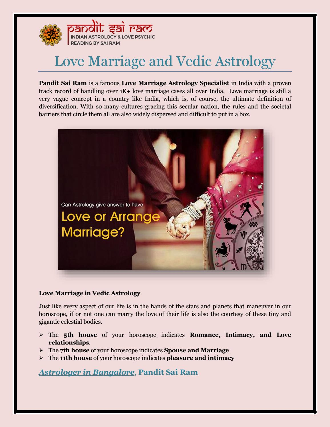 Love Marriage and Vedic Astrology by Sai Ram Astrologer - issuu