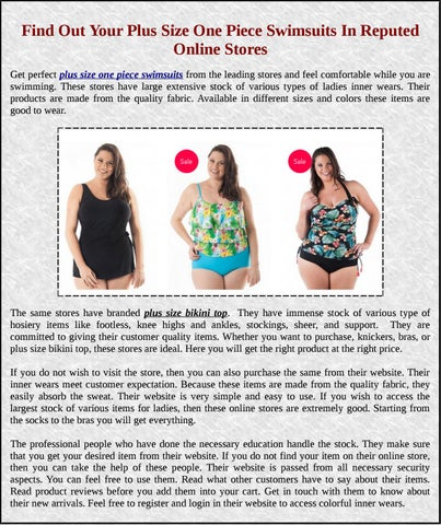 f31748f6b Find Out Your Plus Size One Piece Swimsuits In Reputed Online Stores Get  perfect plus size one piece swimsuits from the leading stores and feel  comfortable ...