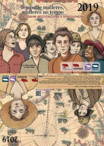 """Cover of """"Calendario STEs-intersindical """"Tempo de mulleres"""" 2019 Galego"""""""