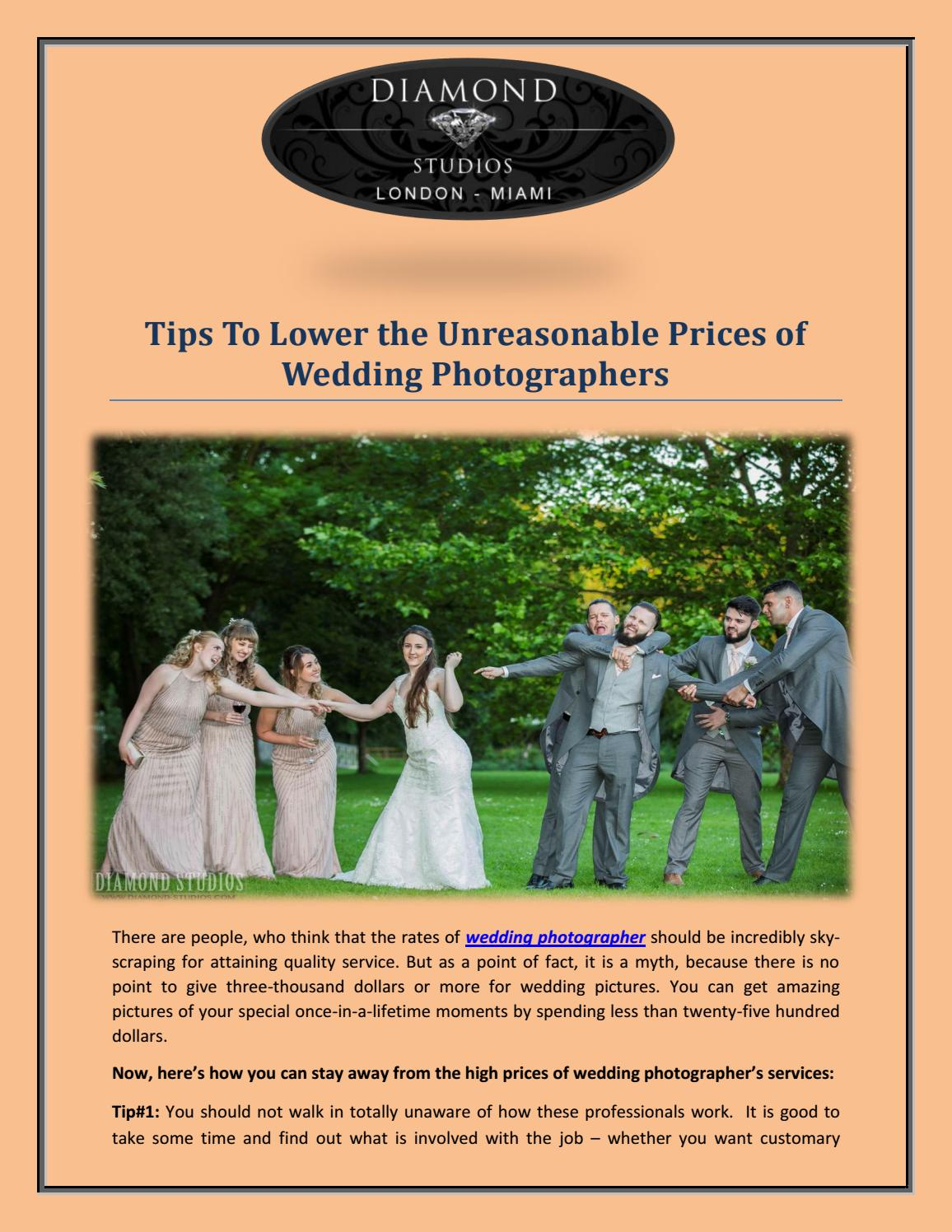 Tips To Lower the Unreasonable Prices of Wedding