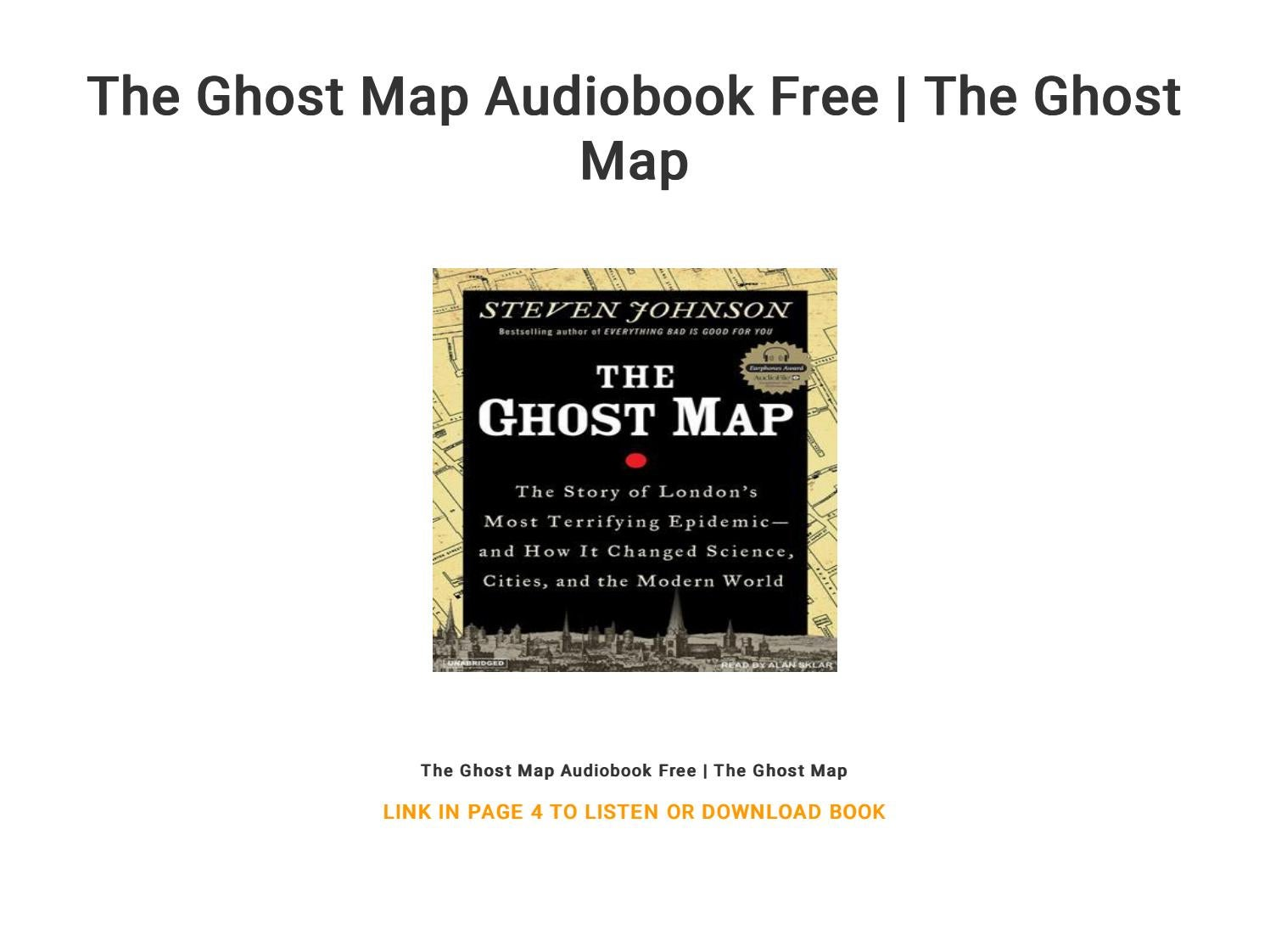The Ghost Map Audiobook Free   The Ghost Map by Tine199317 ... on