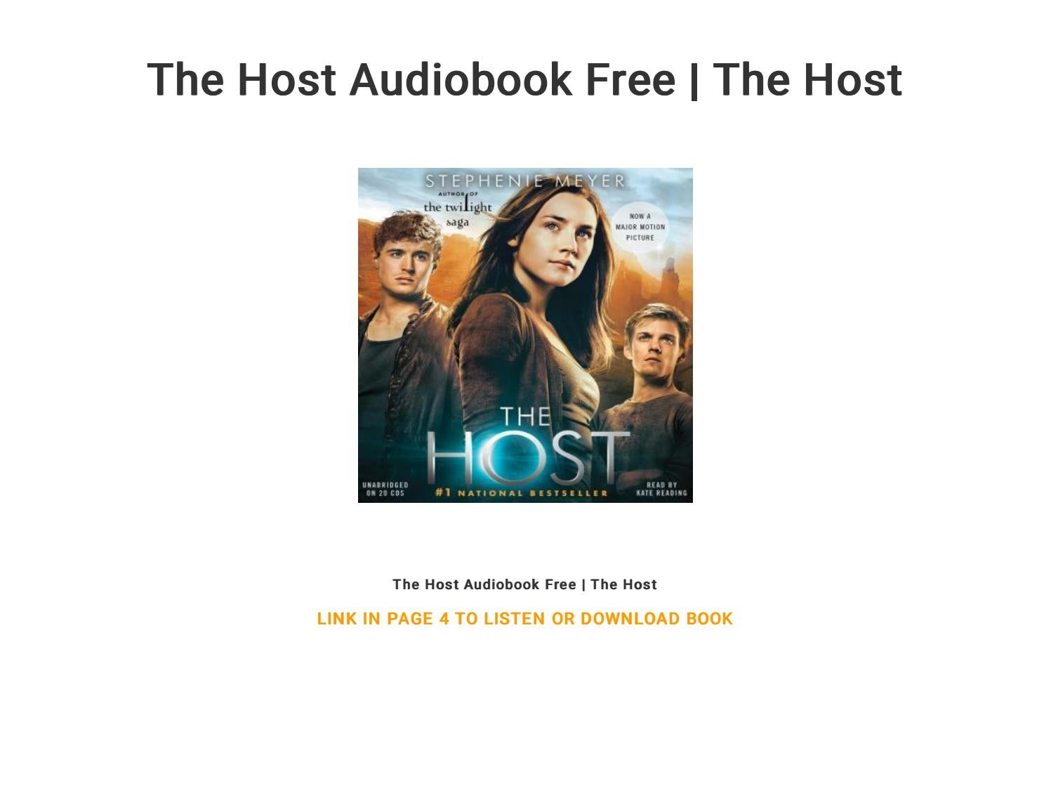 The Host Audiobook Free The Host By Kitime195755 Issuu