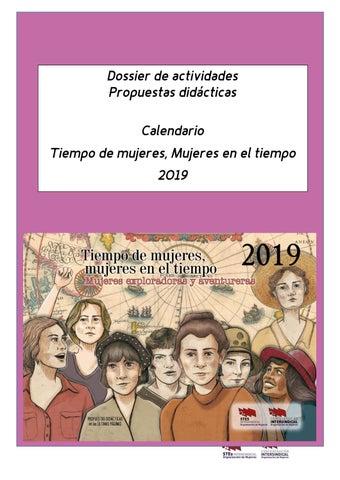 011bdf87d Actividades completas del Calendario Tiempo de Mujeres 2019 by ...