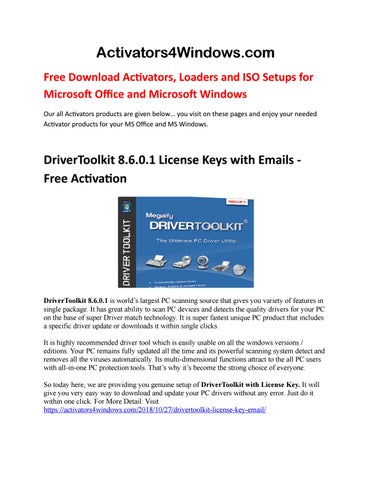free driver toolkit license key and email