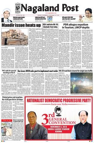 November 5, 2018 by Nagaland Post - issuu