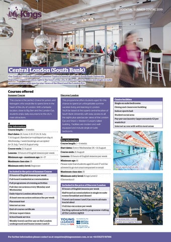 Kings Summer Central London (South Bank) Residential Centre by Kings