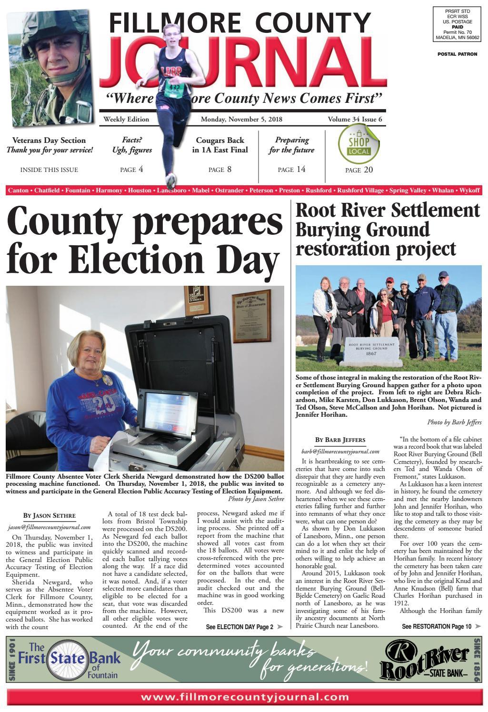 2e0e81718f695a Fillmore County Journal - 11.5.2018 by Jason Sethre - issuu