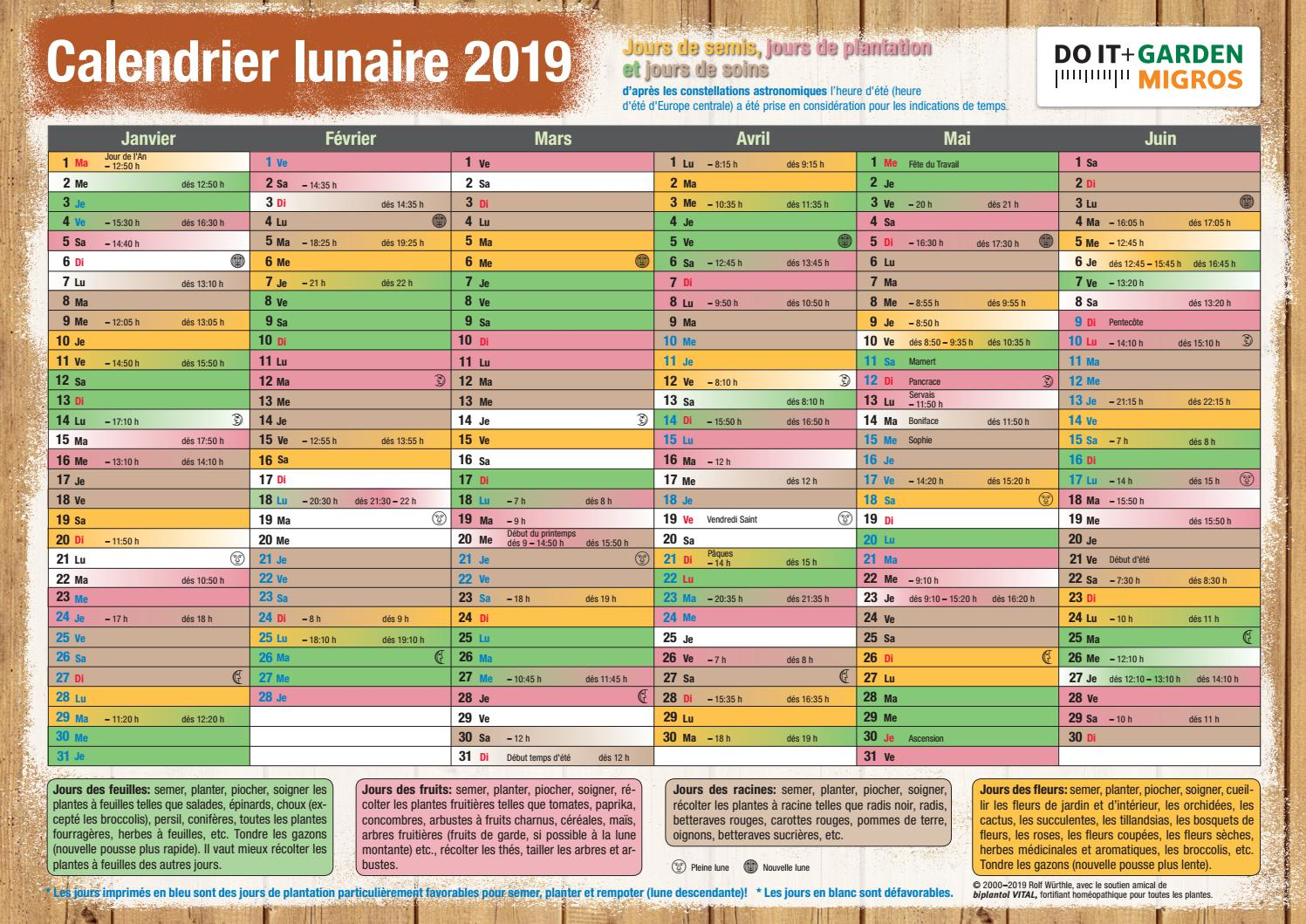 Calendrier Lunaire Jardin Avril 2020.Doit Mondkalender 2019 Fr By Migros Issuu