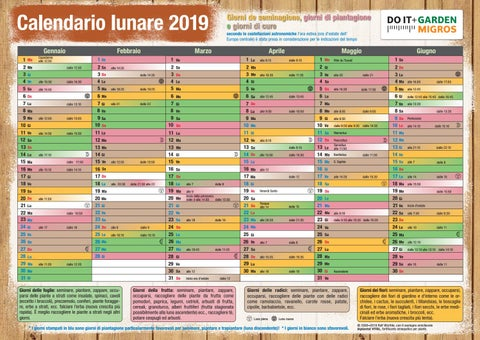 Calendario Lune Piene 2019.Doit Mondkalender 2019 It By Migros Issuu