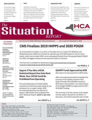 November 5, 2018 Edition of The Situation Report by Home