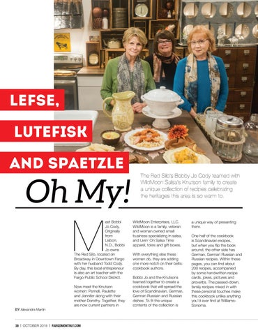 Page 40 of Lefse, Lutefisk, and Spaetzle, Oh My!