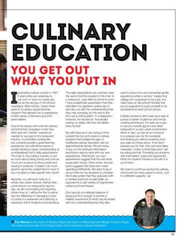 Page 53 of Culinary Education: You Get Out What You Put In