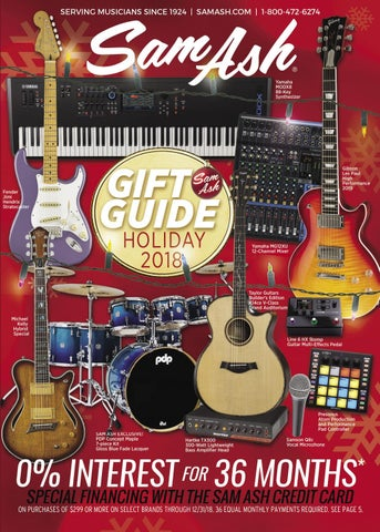 050be46f10bc Holiday 2018 Sam Ash Gear Guide by Sam Ash Music Corp. - issuu