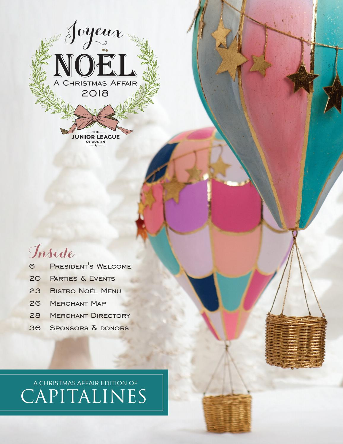 Fall 2018 A Christmas Affair Shopping Guide By The Junior League Of Austin Issuu