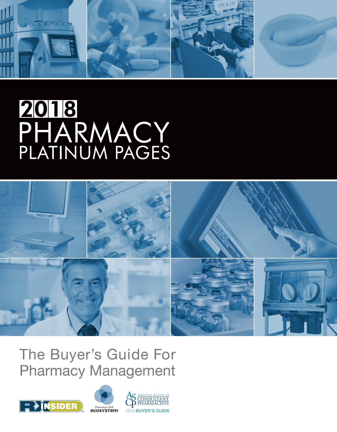 2018 Pharmacy Platinum Pages By Rxinsider Issuu