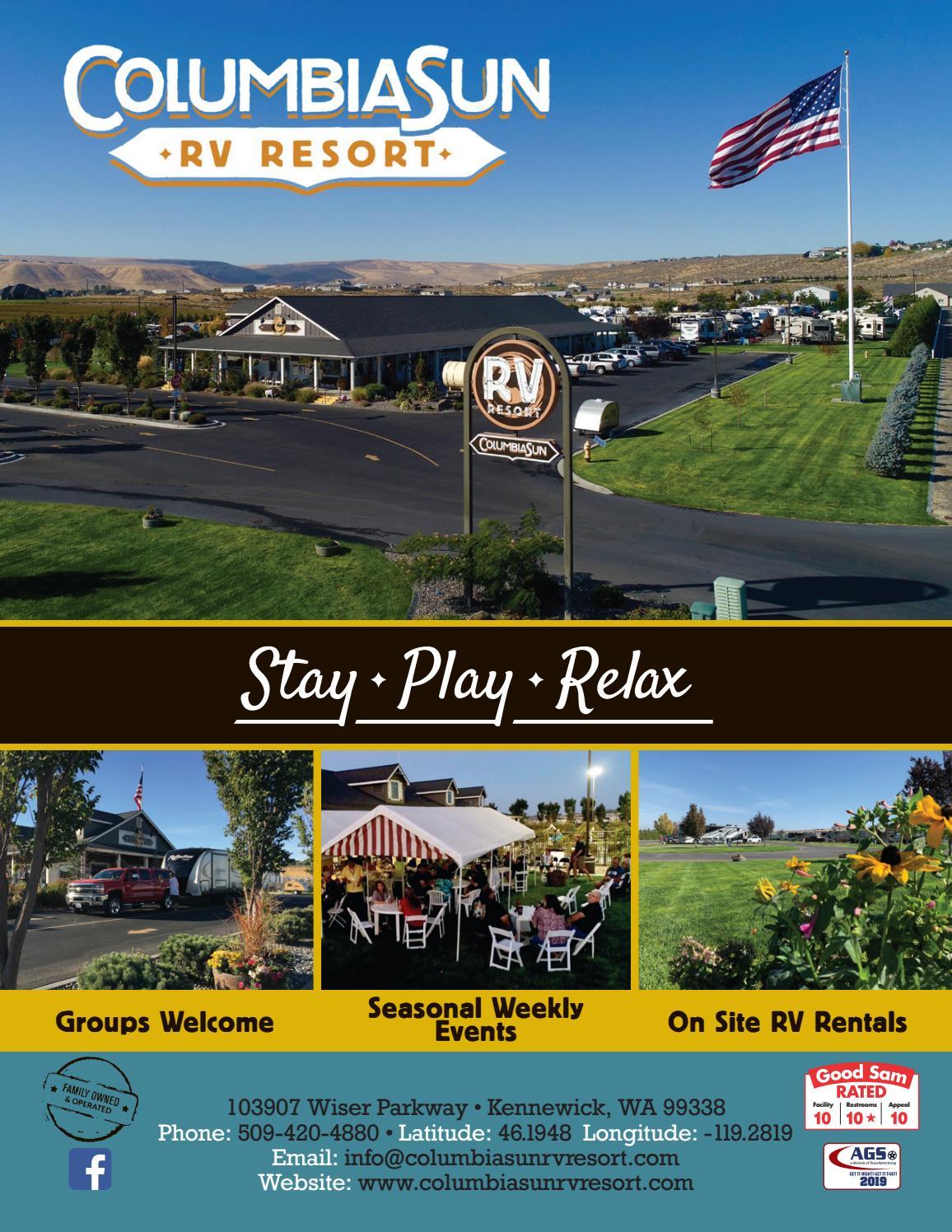 Columbia Sun Rv Resort By Ags Texas Advertising Issuu
