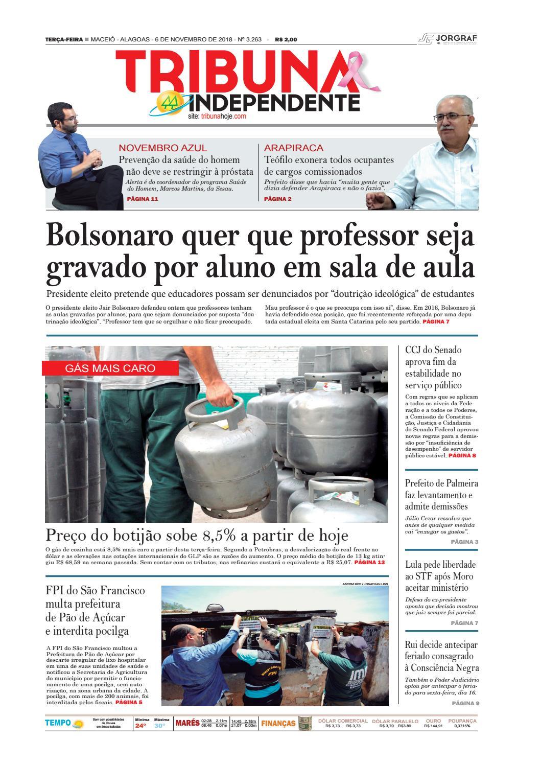Edição número 3263 - 6 de novembro de 2018 by Tribuna Hoje - issuu e96086ebfa06e