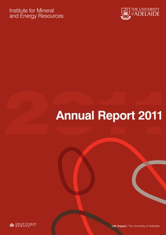 Institute For Mineral And Energy Resources Annual Report