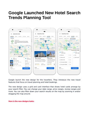 Google Launched New Hotel Search Trends Planning Tool by