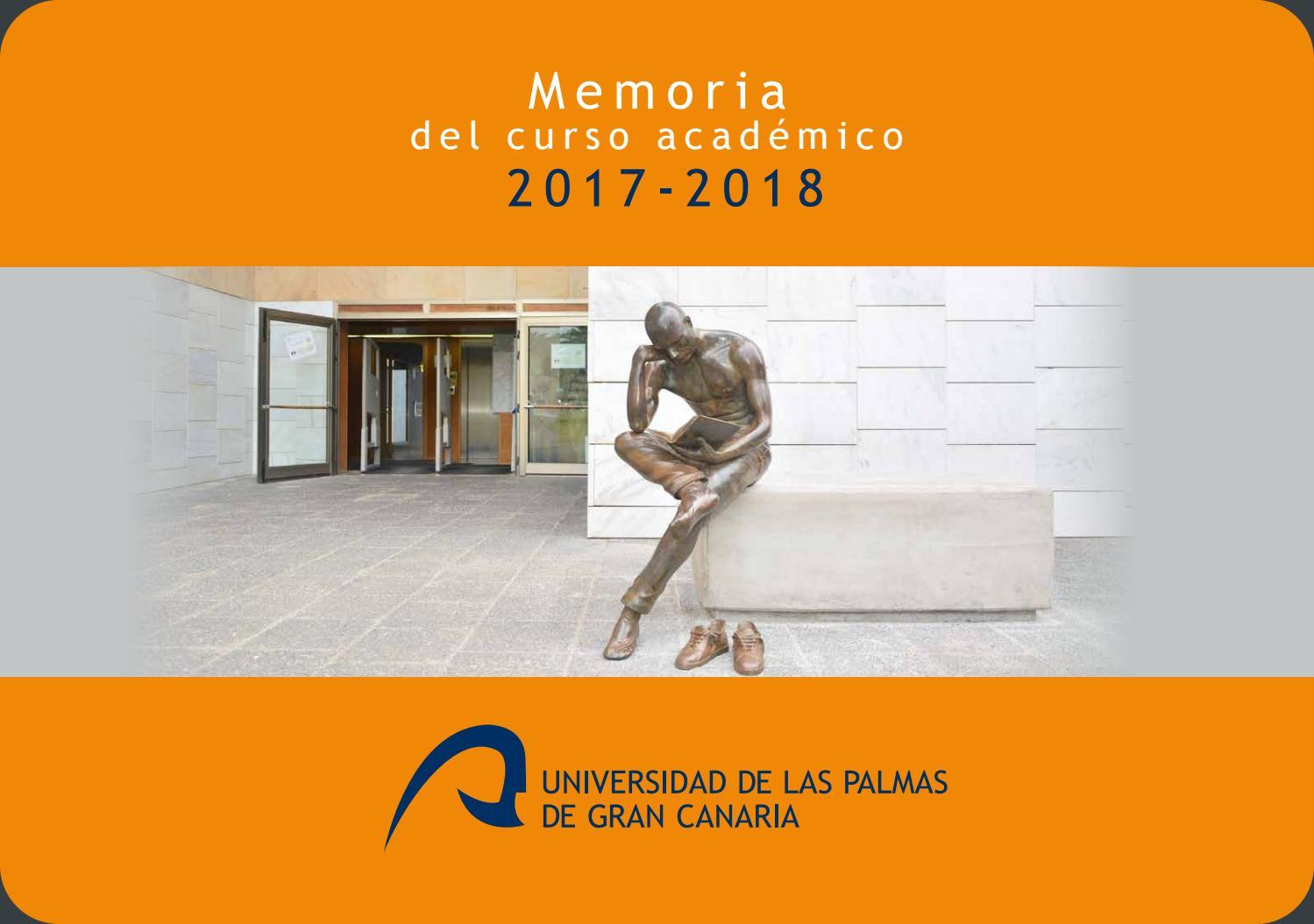 memoria ulpgc curso acadmico 2017 2018 by universidad de las palmas de gran canaria issuu