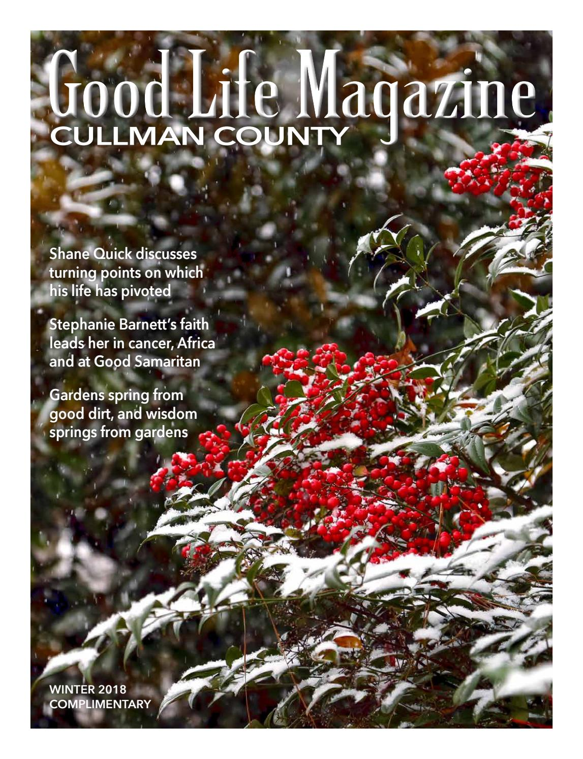 Cullman Good Life Magazine Winter 2018 By The Good Life Magazine Issuu