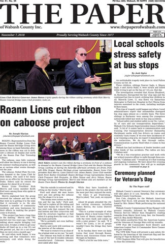 The Paper Of Wabash County Nov 6 2018 Issue By The Paper Of