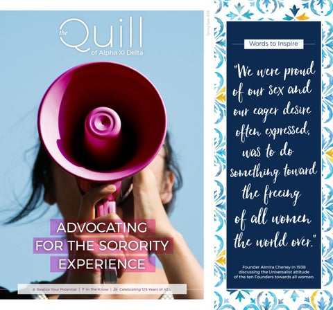 The Quill of Alpha Xi Delta - Summer/Fall of 2018 by Alpha Xi Delta