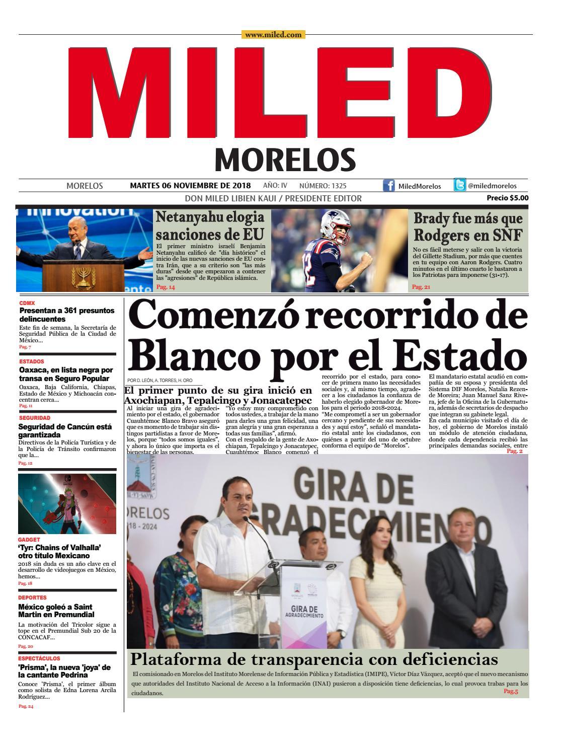 Miled Morelos 06 11 18 By Miled Estados Issuu